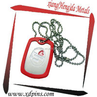 art and crafts product dog tag with rubber cut