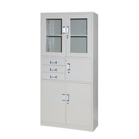 Simple cupboard design blinds door steel file cabinet