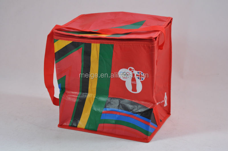 thermal lunch cooler bag for hot food / pepsi cooler bag / insulated six-pack cooler bag