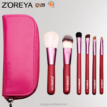 New Products! Beautiful Professional Makeup Brush Set 6pcs Hot Pink Makeup Brushes Make-up Cosmetic Tools