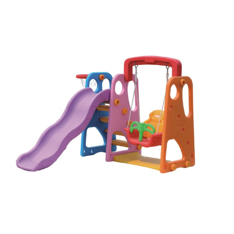 Baby play set indoor plastic <strong>slide</strong> and swing for sale
