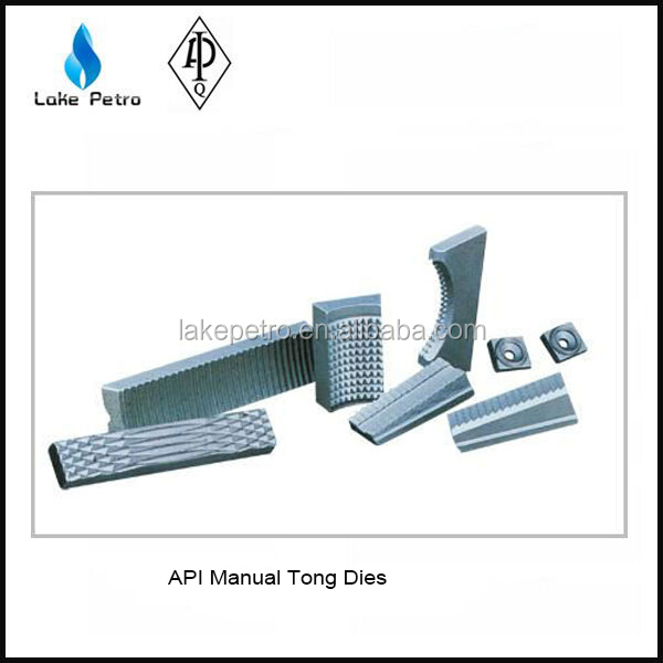 Good quality manual tong dies and slip inserts,drill pipe slip dies,drill collar slip tong made in China
