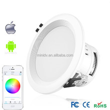 50000 Hours' Ultra Long Lifespan AC85-240V 9W WiFi Dimmable LED Downlight With Unique Wireless Hotspot for Each Unit