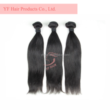 Wholesale beauty straight with double drawn bundles 100% virgin Russian Peruvian Brazilian hair extension weft