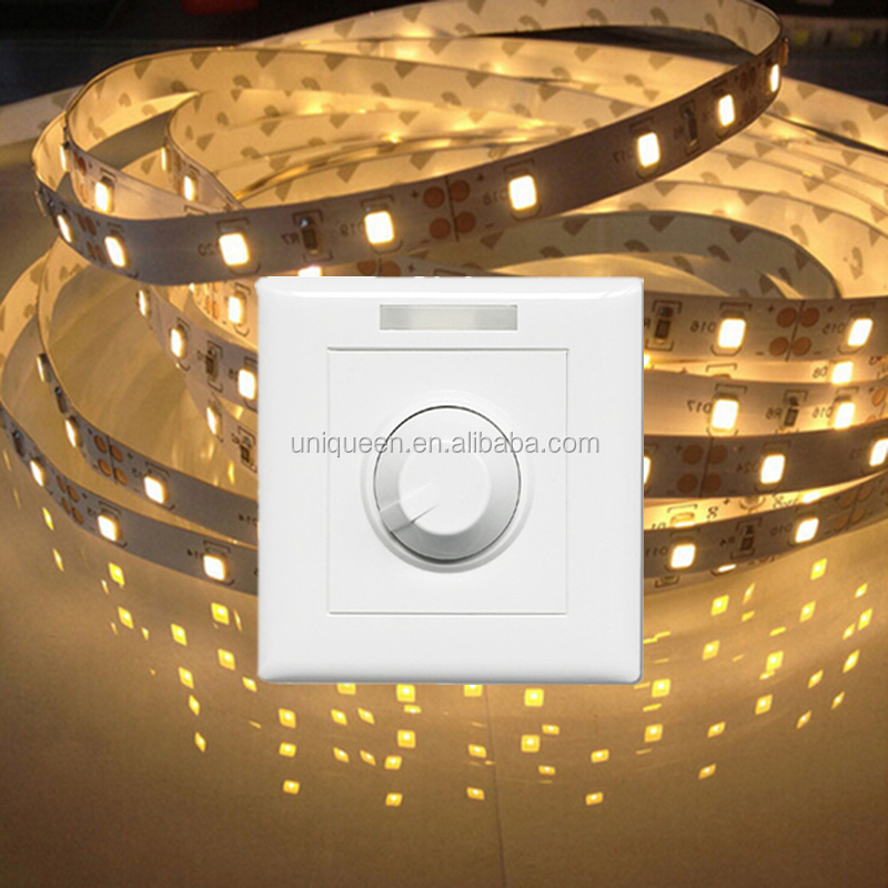 Constant Voltage PWM 3 Years Warranty LED Light Dimmer DC12-24V 10A Led Strip Dimmer PWM Led Wall Dimmer with Low Price