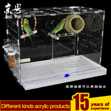 Acrylic Design bird breeding cage window hanging birds cages