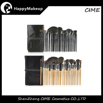 Factory Low Price 32pcs Soft Hair Makeup Brushes Set With Bag