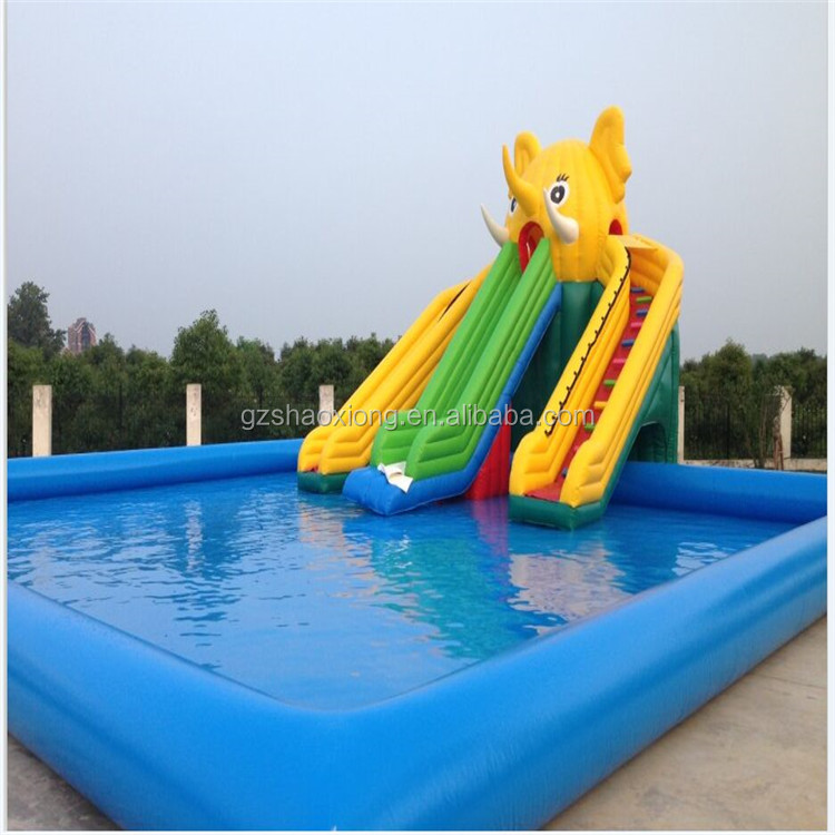 Hot sale inflatable water park slide, water slide with pool, china inflatable slide