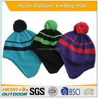 winter knitted kids handmade striped hat
