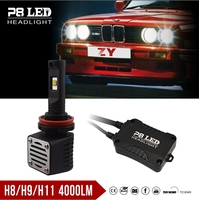 Replace xhp70 led headlight h1 h3 h4 h7 h8 h9 h10 / New P8 4000lm led headlight h11 with CE certificate