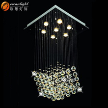 led pendant chandelier,spiral crystal chandelier om9473