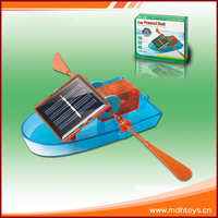 Do it yourself educational solar powered plastic boat toy for kids