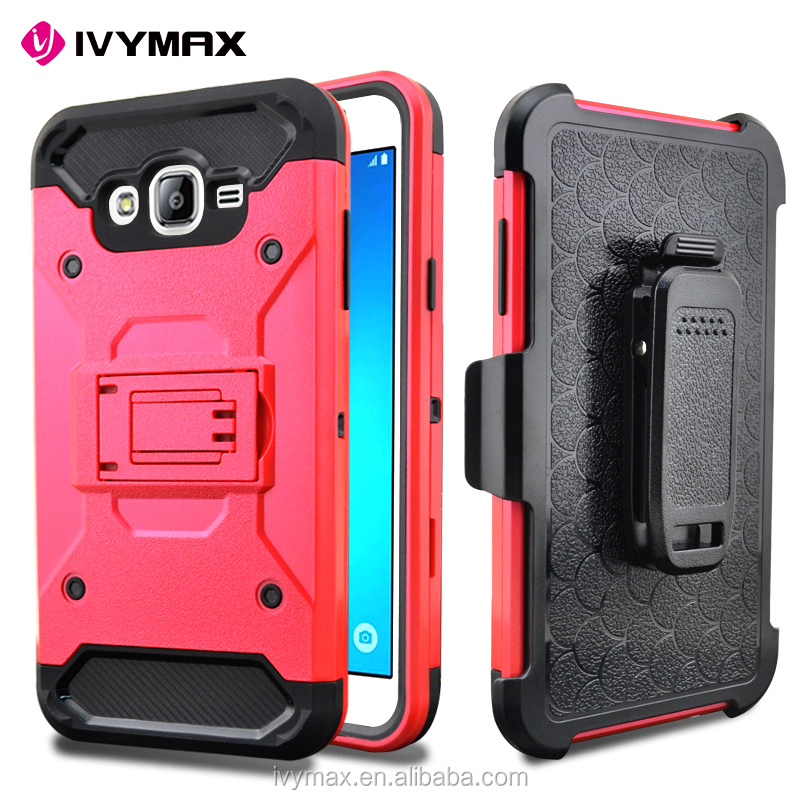 IVYMAX 2016 new arrival clip holster combo case for SAMSUNG GALAXY J7