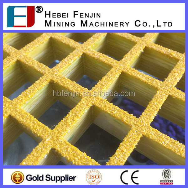 China Manufacturer Gritted Surface FRP Covered Grating For Deck