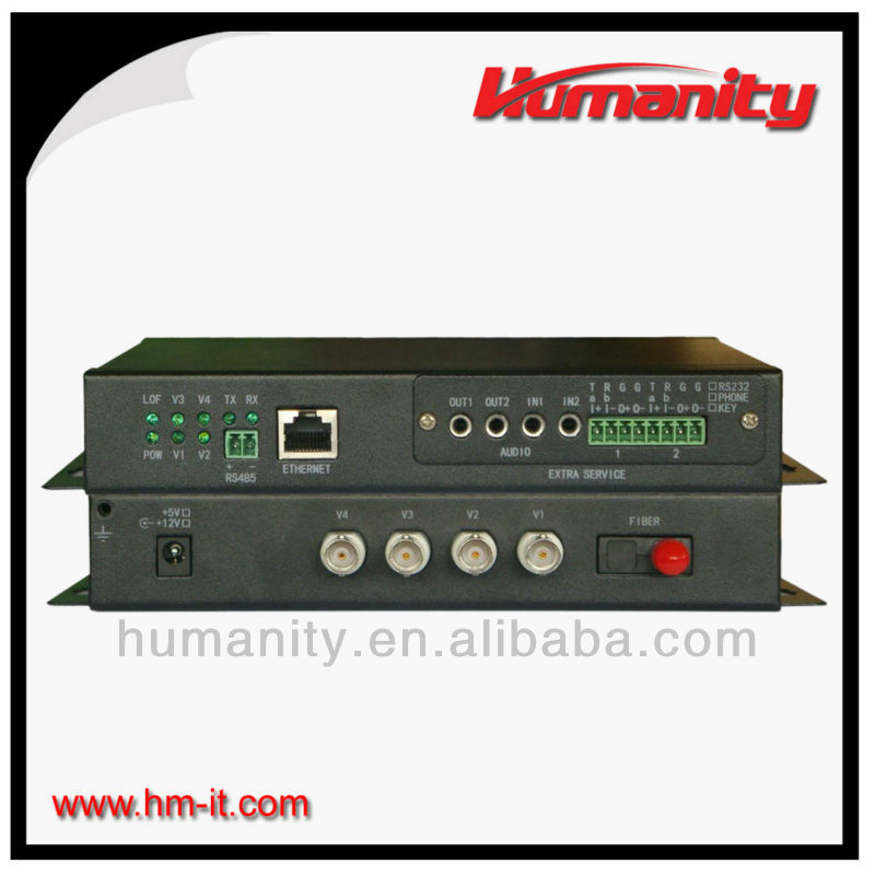 Humanity Video and Audio over Fiber - 4 Channel Digital Video Multiplexer