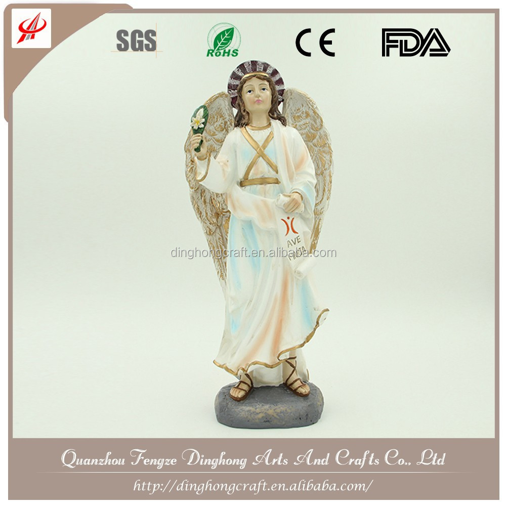 Wholesale Resin Angel and Cross Religious Crafts Angel Cemetery Monuments