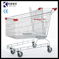 High Quality 150L Australian type shopping cart ,can be printed logo