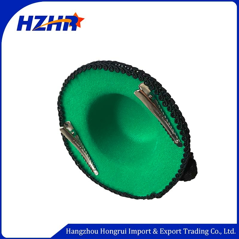 2020 wholesale custom party cosplay headbandgreen mini top hat hair headband green headband