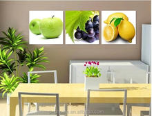 2016 canvas fruit oil painting canvas printing for kitchen and restaurant