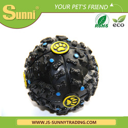 High quality silicone rubber dog toys with sound ball