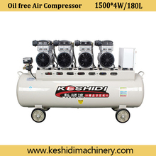1500*4W/180L Silent oil free air compressor made in china