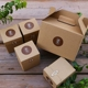 set item honey jam paste fancy gift kraft paper boxes with handle