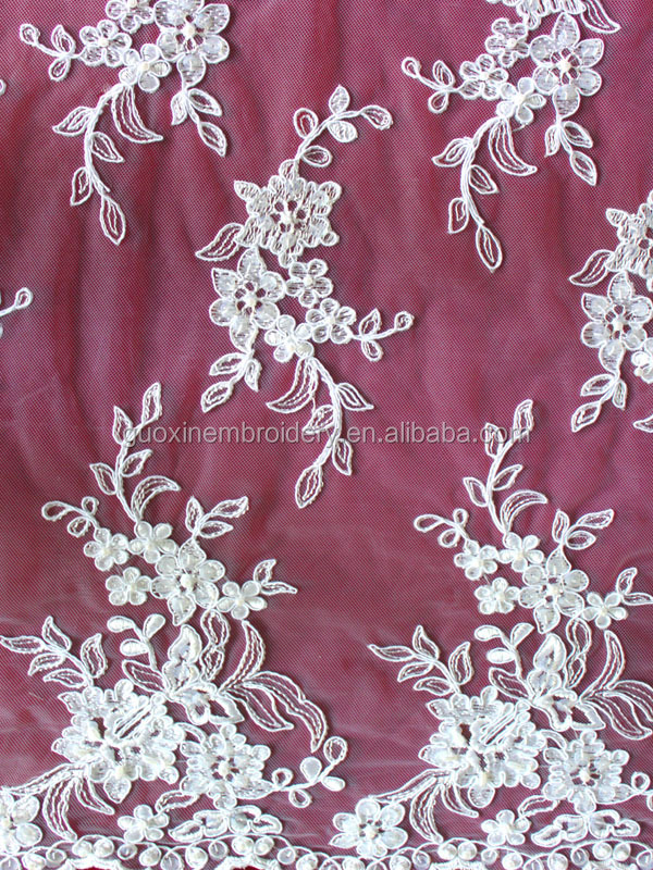corded/beaded embroideried tulle all-over lace/ lace for wedding accessories