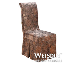banquet manufacter polyester/cotton roseete lace wedding chair covers and sash