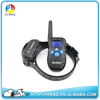 Remote controlled dog training collar with rechargeable and wateproof collar