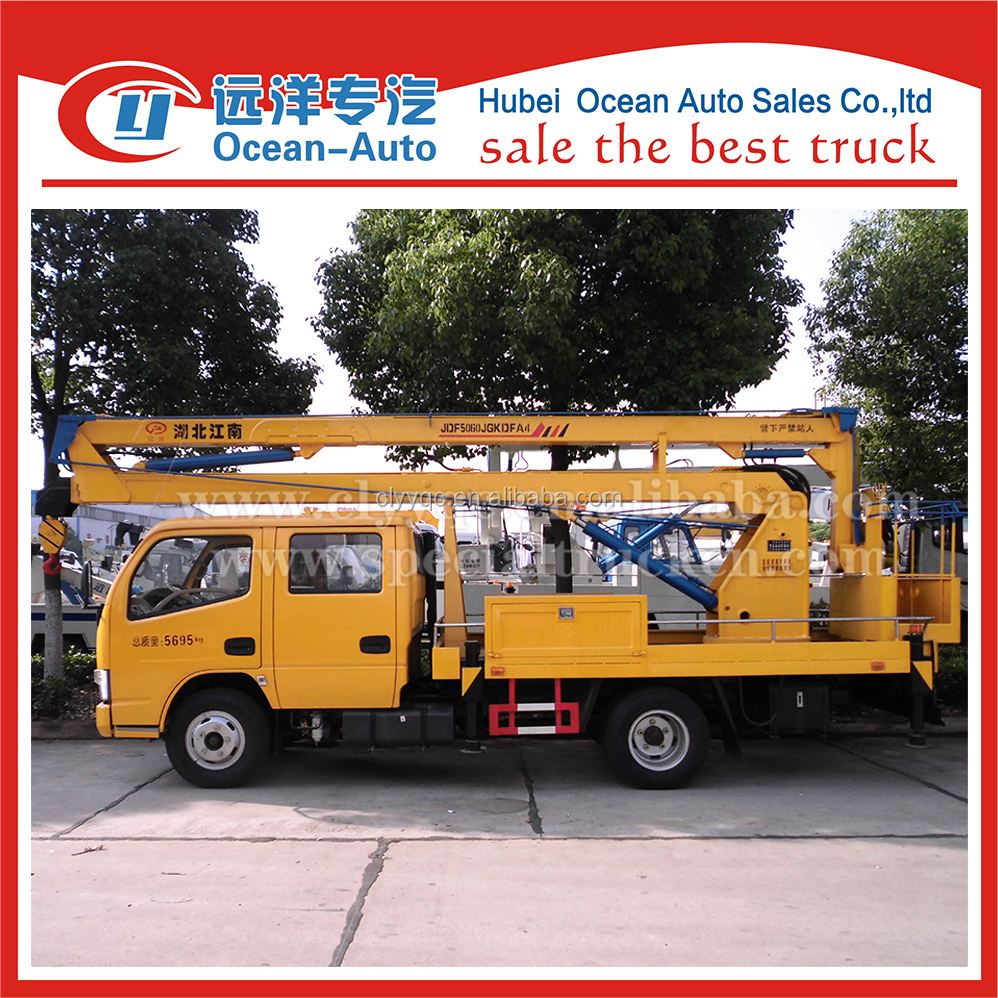 Dongfeng 4x2 small chassis 14m high operation working truck