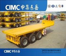 CIMC 3 axle 20ft self loading flatbed container dump trailer for sale