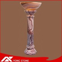 Natural stone onyx column for decoration