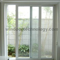 Economical Type White PVC Glass Sliding