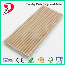 Wholesale Customized Eco-friendly Biodegradable Brown Paper Drinking Straw
