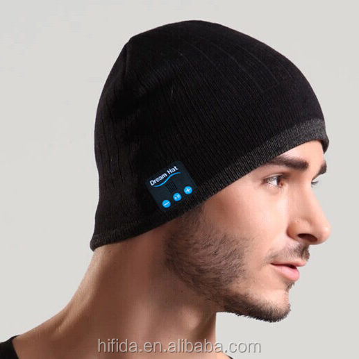 outdoor sports winter caps bluetooth speaker hat keeps your head warm while listen to music