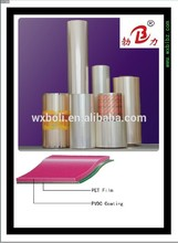 Hot Sell metalise pet film lamination grade gold supplier