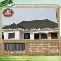 ISO certified sand coated metal roofing tiles