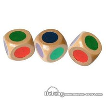 Color Side Wooden Dice