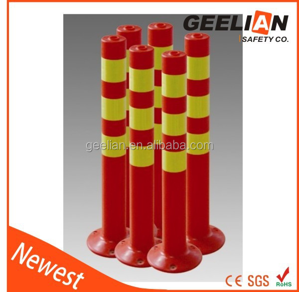 reflective bollard sign barrier bollard fence post reflectors