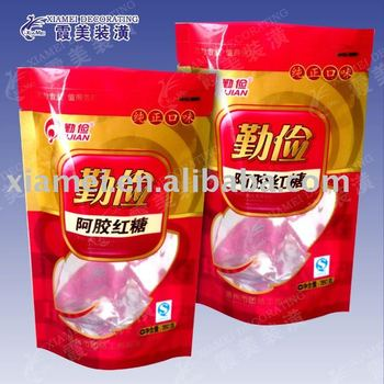 translucent bottom gusset standing sugar packaging laminated pet food bag
