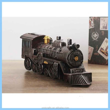 Resin Creative Retro Locomotive Model, Resin Imitation Metal Steam Trains Model Home Decorations