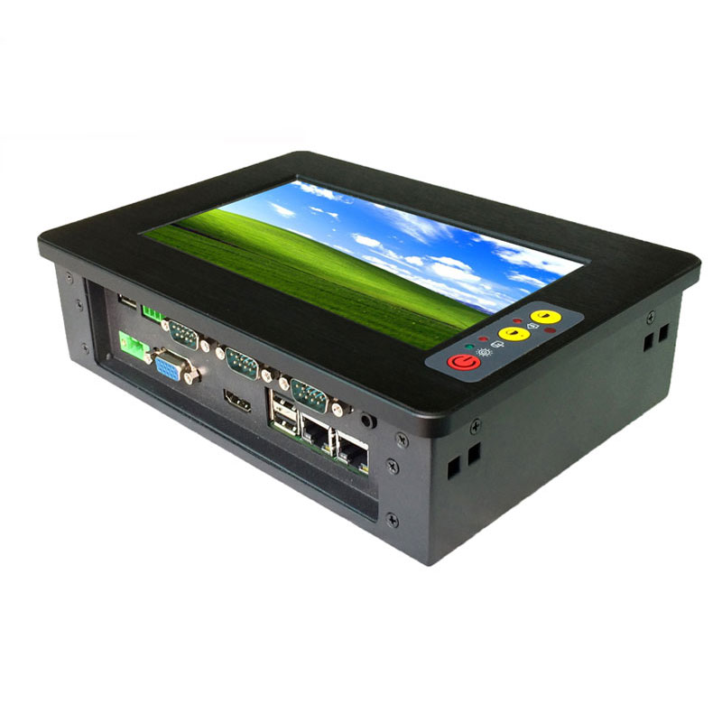 10.4 inch Intel Atom N2800 Dual Core CPU Fanless Industrial Panel PC All In One With VGA HDM LAN Industrial Rugged Computers