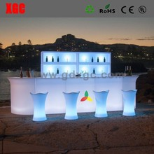 2017 belysning borde og stole nightclub lounge furniture white light LED Bar Counter for dj club With 16 Colors Remote Control