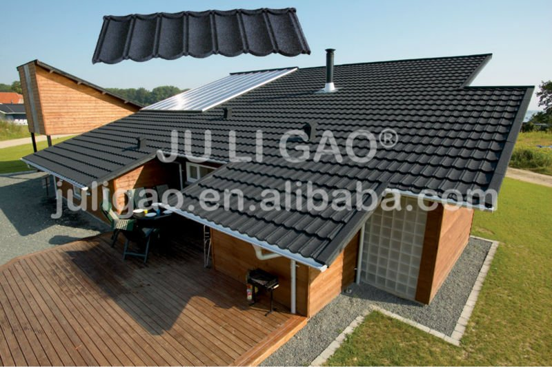 Building Material Stone Coated Steel Roof