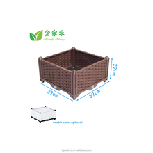 Multi shelf stackable plastic plant grow pot for plant flower planting