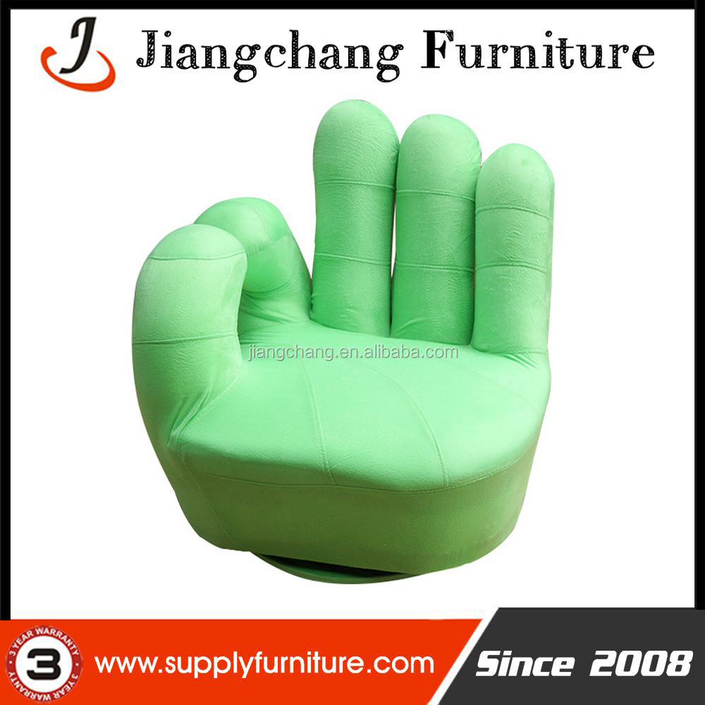 hand victory finger leisure sofa chair With 360 degree swivel