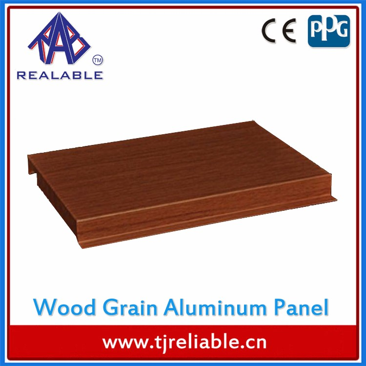 Wood Grain Exterior Aluminum Facade Panel/Building Construction Materials Aluminium Board