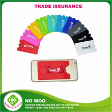 Wholesale Silicone Cell Phone Wallet card holder 3m sticker phone case with business card holder
