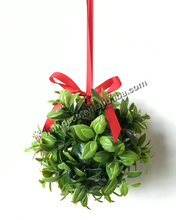 Artificial Mistletoe Kissing Ball christmas topiary ball