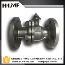 Silica sol casting 2205 floating ball valve by flanged connection
